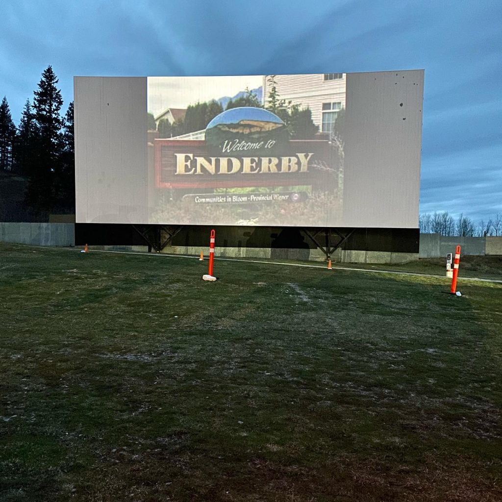 Enderby Drive In Theatre - Starlight Drive In - photo by Tyler Rands (Enderby Realtor)