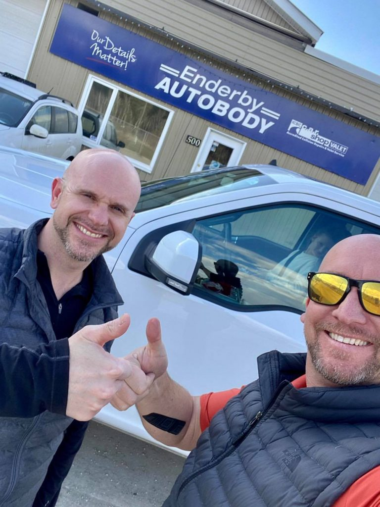 Enderby Autobody Shop - with Realtor Tyler Rands
