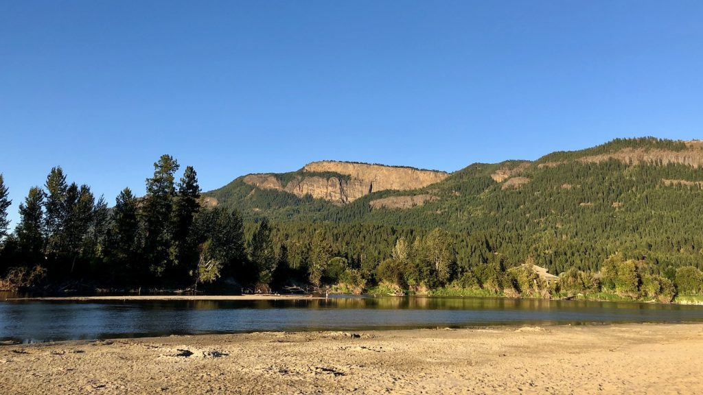 Enderby cliffs from tuey park by mary jane duford